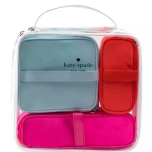 Kate Spade Cosmetic Bags 4pc Set, Pouch, Case, NWT
